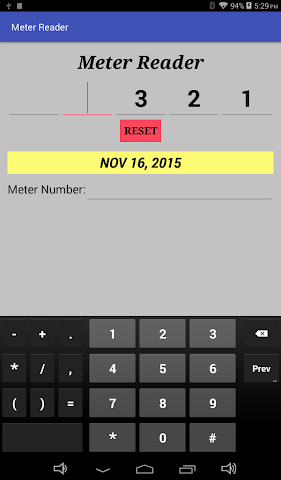 android Meter Reader Assistant Screenshot 2