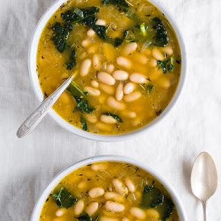 Lemony Kale and White Bean Soup.