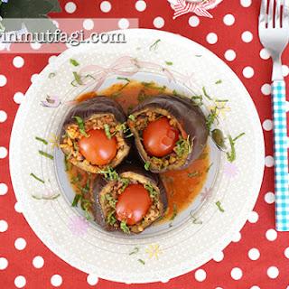 Eggplant Dolma (Stuffed Eggplant).