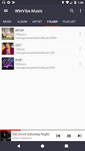 WinVibe Music Player (MP3 Audio Player) Screenshot