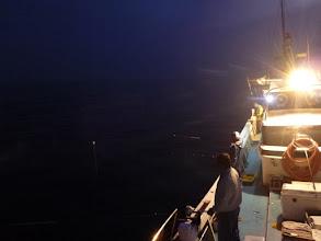 Photo: さあー、ウキにケミホタル付けて 夜釣りスタート!