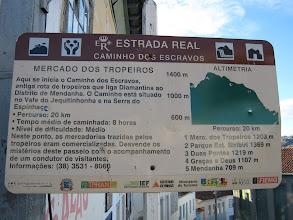 Photo: Placa no início do Caminho dos Escravos, ao lado do Mercado dos Tropeiros