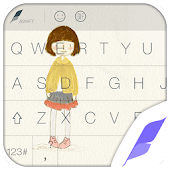 Little Girl Skin FlashKeyboard