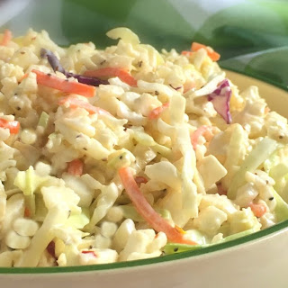 Cauliflower Rice Coleslaw
