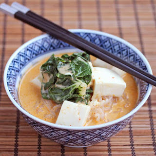 Red Curry Coconut Noodle Soup.