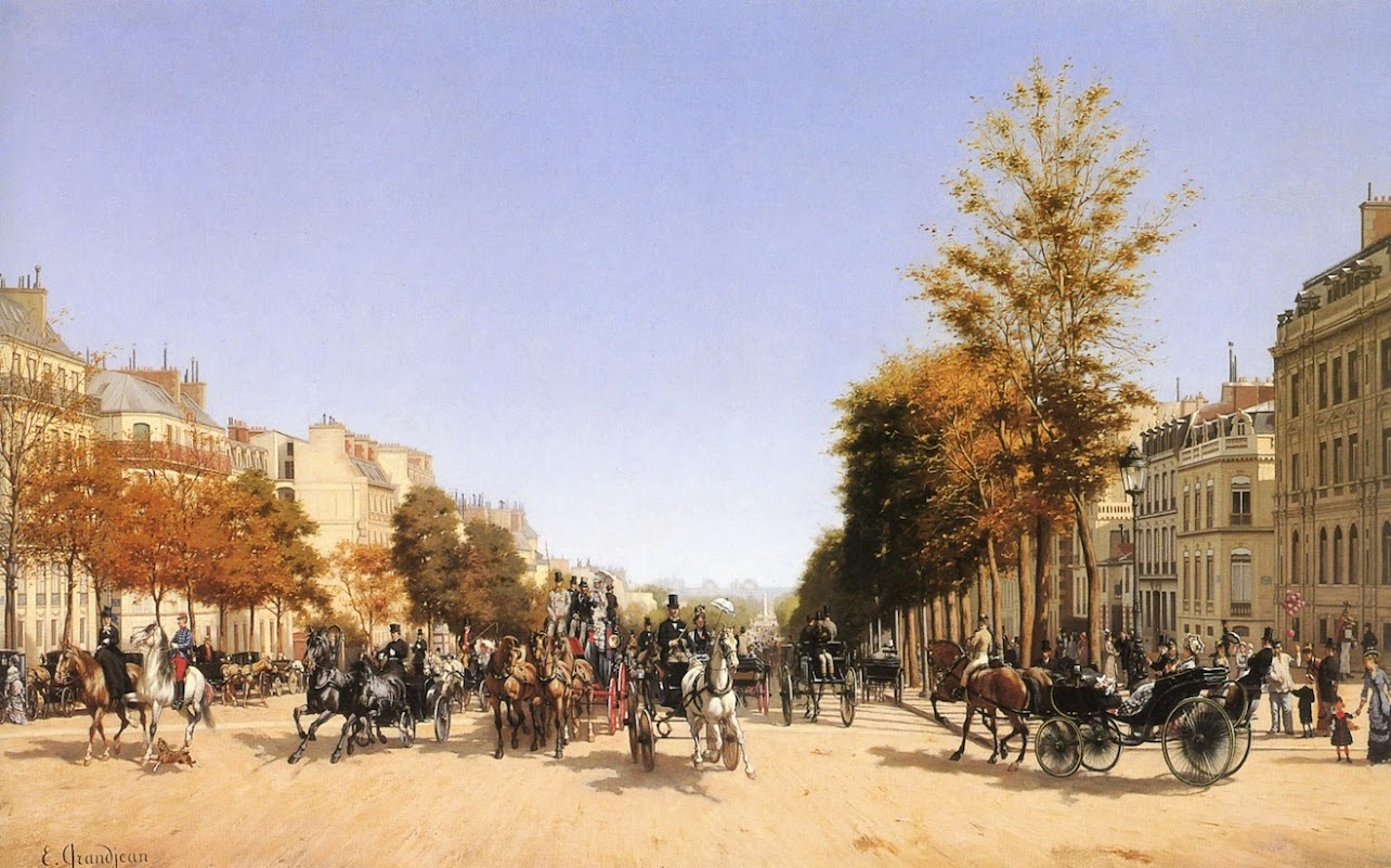 View of the Champs-Elysées from the Place de l'Etoile by Edmond-Georges Grandjean - 1878.