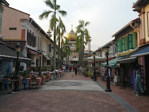 Photo: The main street in the Kampong Glam neighbourhood of Singapore.