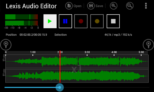Lexis Audio Editor Screenshot