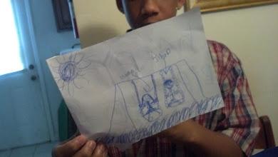 Photo: part of Kaleya's bday card for Jihad