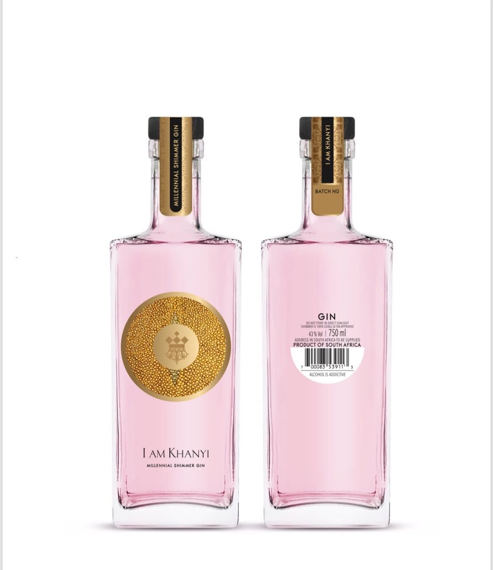 An image of Khanyi Mbau's new gin.