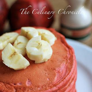 Red Velvet Banana Pancakes