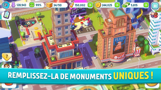 Code Triche City Mania: Town Building Game APK MOD screenshots 2
