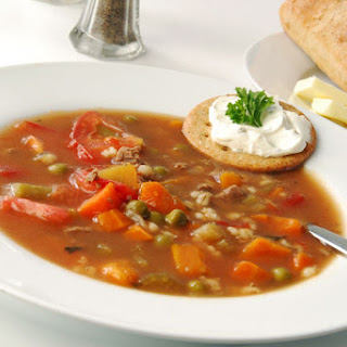 Hulled Barley Vegetable Soup