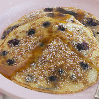 Blueberry Rice Pancakes.