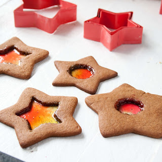 Stained Glass Gingerbread Cookies.