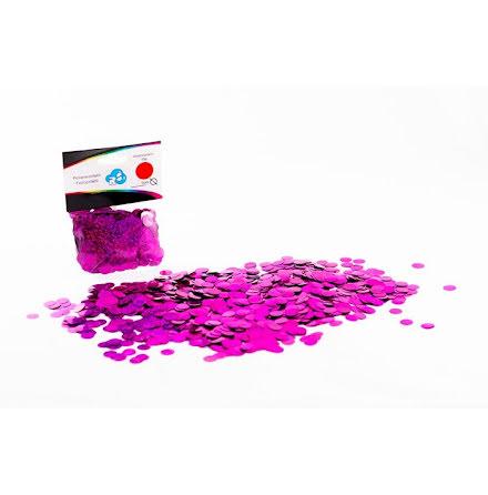 Ballongkonfetti - holografisk rosa, 15 gram