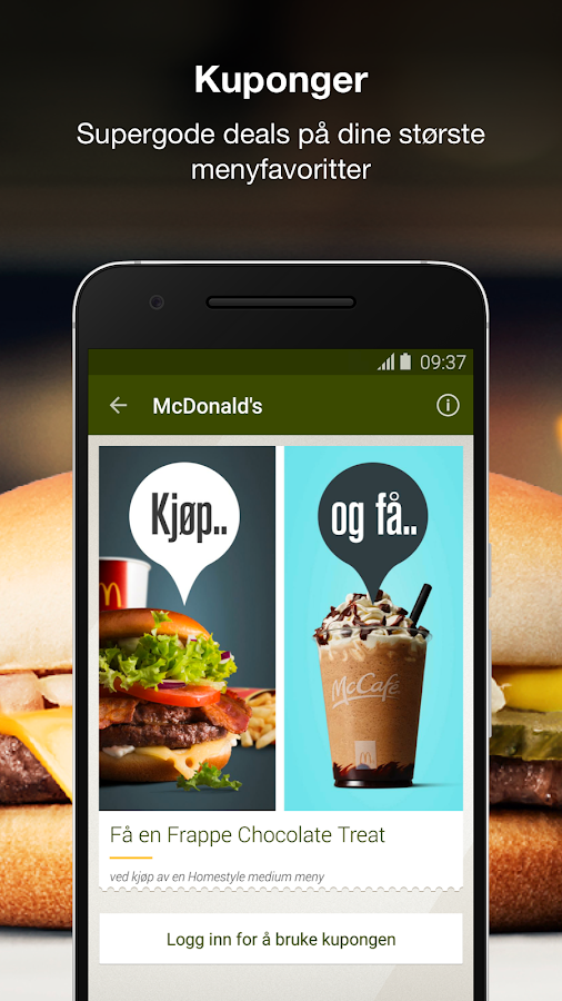 McDonald's Norge- screenshot