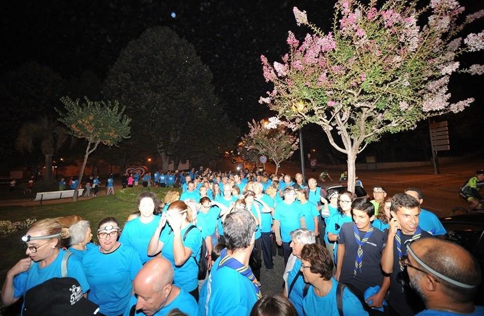 Caminhada Noturna da Semana da Mobilidade com mais de 250 participantes