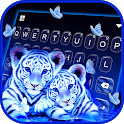 Neon Tiger Cubs Keyboard Background icon