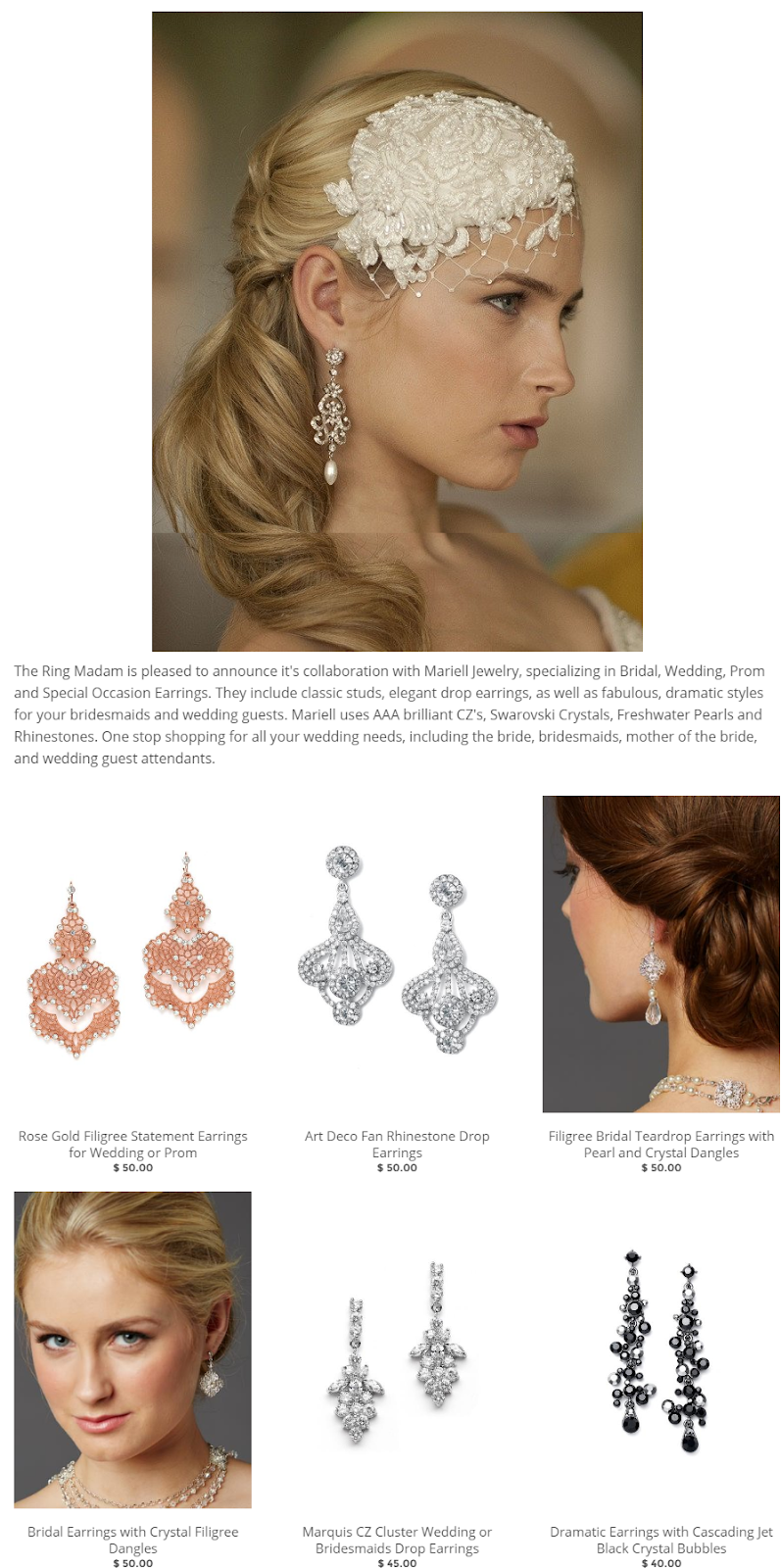 Bridal Wedding Prom and Special Occasion Earrings – The Ring Madam.png