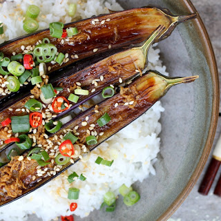 Grilled Eggplant With Ginger Dressing [Vegan]