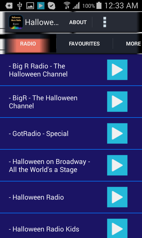 halloween music radio screenshot - Kids Halloween Radio