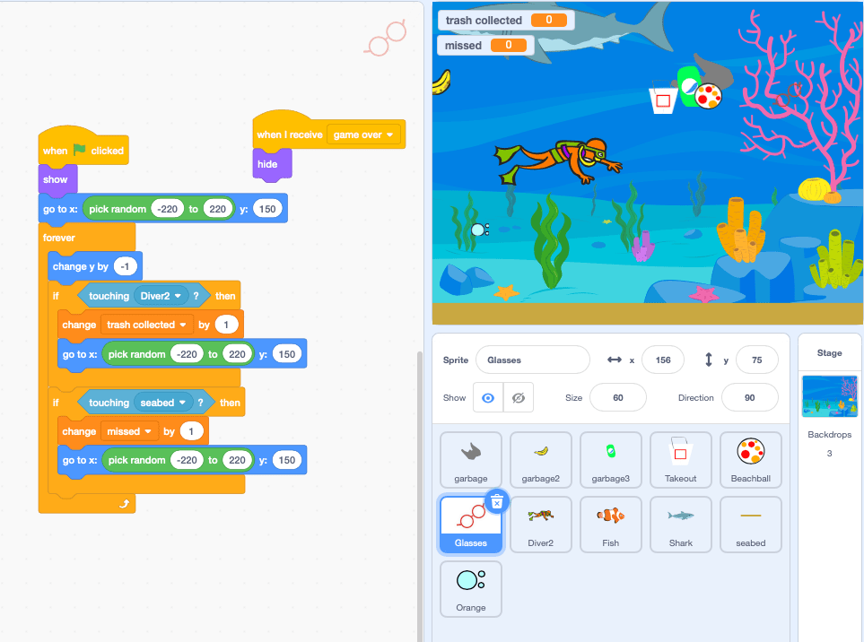 A Scratch coding language project with block coding