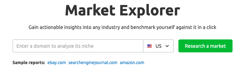 market explorer search