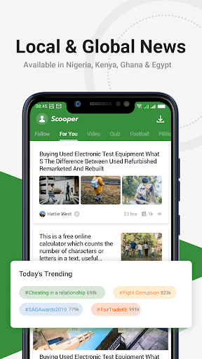 Scooper News: Trending News, Videos, Live Football V3.9.16 screenshots 1
