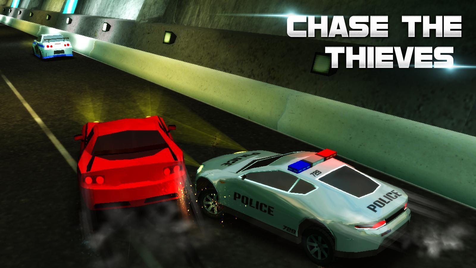 racing police