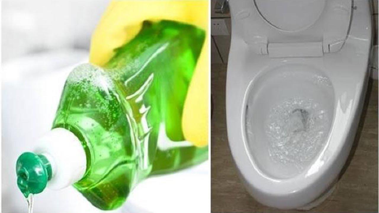 Thông tắc cống thoát nước bằng việc sử dụng nước rửa bát