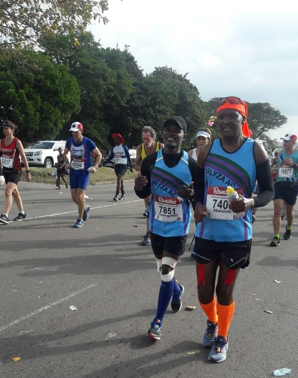 Slyza Athletics Club crew enjoying the Comrades Marathon on Sunday.