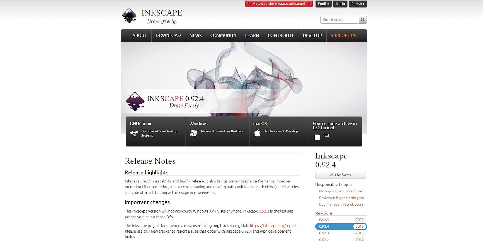 Inkscape - Free - Graphic Design Software