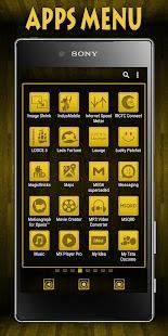 Wooden Icons Yellow XZ Theme - náhled