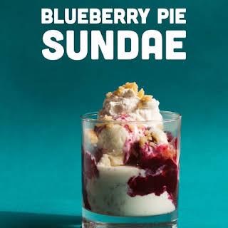 Blueberry Pie Sundae.