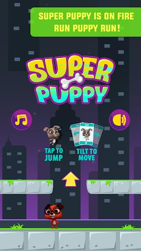 犬 実行してジャンプ ゲーム