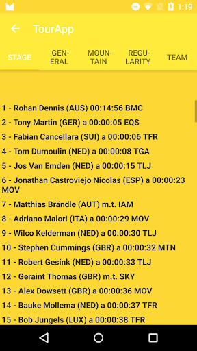 TourApp Tour of France 2015