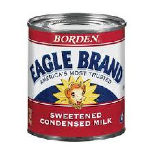 Peel the label from your Eagle Brand milk. In a large sauce or stew...