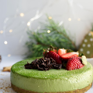Matcha and Ginger Cheesecake.