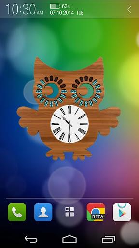Owl Clock Widget [Free]