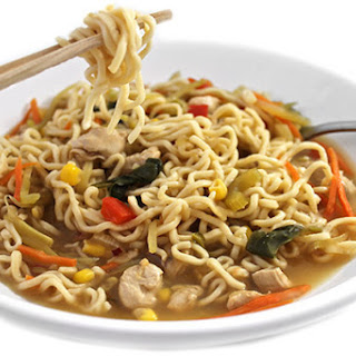 Skinny Asian Chicken and Noodle Bowl