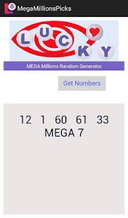 mega millions random number generator