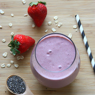 Strawberry & Raspberry Breakfast Smoothie