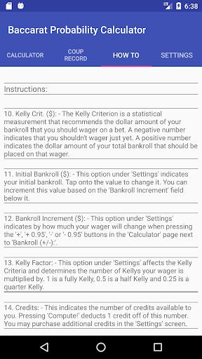 Baccarat Probability Calculator (Full) 36 screenshots 7