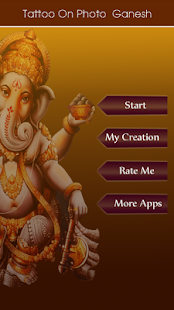 Ganesh Tattoo on Photo screenshot