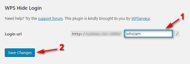 Thay đổi đường dẫn đăng nhập admin bằng plugin WPS Hide Login