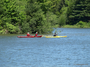 Photo: A group of kayakers at Waterbury Center State Park by Matt Parsons