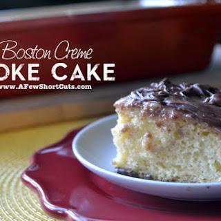 Boston Creme Poke Cake