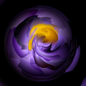 Deconstructing reality by Did Art - Digital Art Abstract ( digital, yellow, black, purple, abstract )