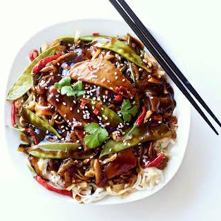 Leftover Roast beef Thai noodle dinner.